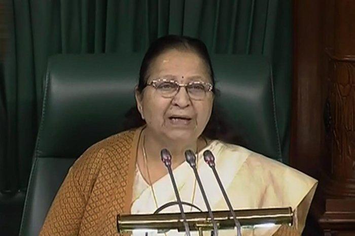 Sumitra Mahajan. PTI file photo