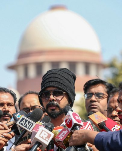 Former Indian cricketer S Sreesanth. PTI file photo