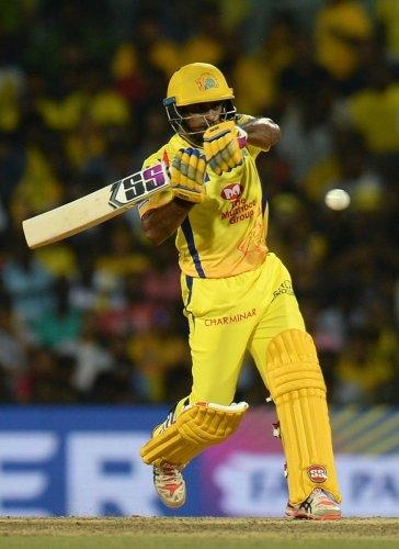 TESTING TIMES: Yet to get cracking this IPL, Chennai Super Kings' Ambati Rayudu will be eyeing a big knock against Kings XI Punjab on Saturday. AFP