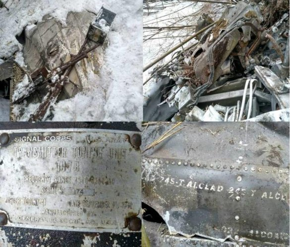 A collage of the WW-II aircraft wreckage. Photo by Indian Army