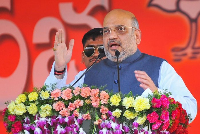 BJP president Amit Shah on Friday said the Narendra Modi-led government has ensured peace and development in the northeast, which was roiled by militant activities even five years ago. PTI photo