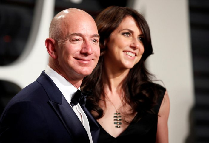 Amazon's Jeff Bezos and MacKenzie Bezos. Reuters photo