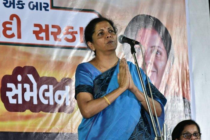 Defence Minister Nirmala Sitharaman. (DH Photo)