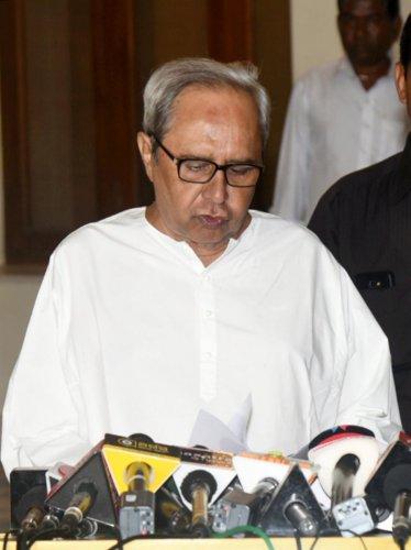 BJD President and Odisha chief minister Naveen Patnaik. (PTI File Photo)