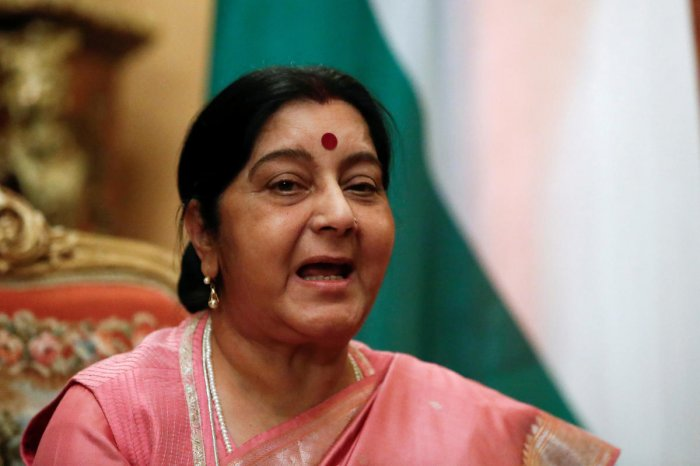 """Taking strong objection to Rahul Gandhi's remarks on the treatment meted out to BJP veteran L K Advani by the party, senior BJP leader Sushma Swaraj on Saturday asked the Congress president to maintain """"some decorum"""" in his comments. Reuters file photo"""