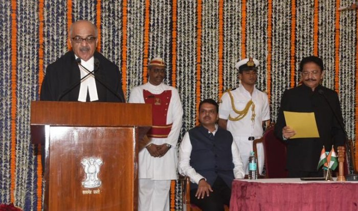 Chief Justice of Rajasthan High Court, Justice Pradeep Nandrajog was sworn in as the Chief Justice of the Bombay High Court on Sunday. Picture courtesy Twitter