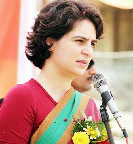 "If Priyanka Gandhi or any other member of the Gandhi family can distinguish between sugarcane and chari, I will start believing that they have the right to speak on farmers,"" he told PTI in an interview. File photo"