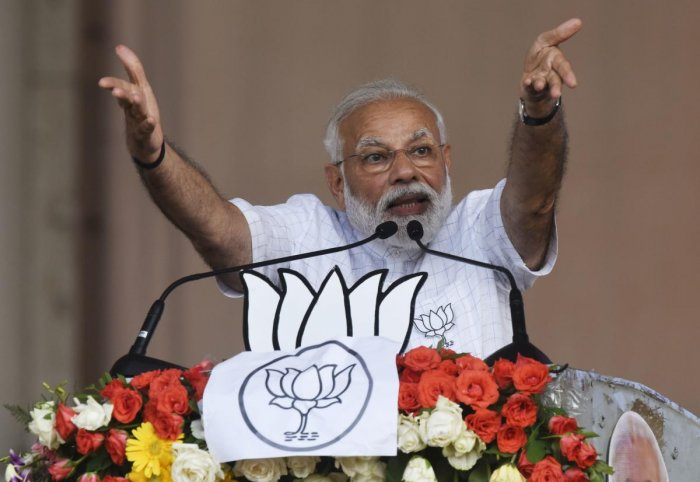 Modi asserted that the opposition parties could stoop to any level to remove him from power. AFP File photo