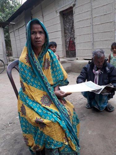 An NRC dropout in Assam's Udalguri district. DH File photo