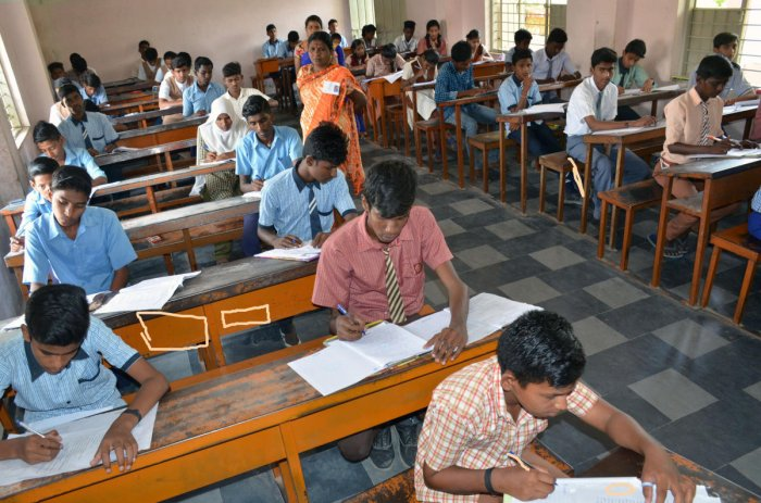 The SSLC examinations in the state concluded on April 4 and the evaluation of answer scripts is scheduled to begin on April 10. DH File Photo
