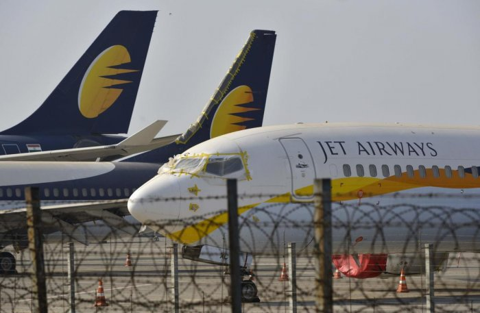 Under the debt resolution plan approved by the Jet Airways' board on March 25, lenders have taken a majority stake in the airline and are set to infuse Rs 1,500 crore. AFP File photo