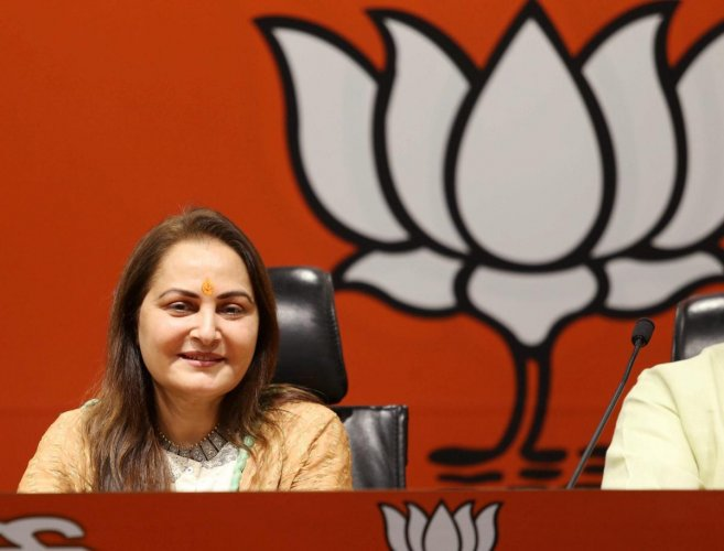 """I have an emotional attachment with the people of Rampur. I am here to work for them and make Narendra Modi our prime minister once again while Azam is fighting the election to legalise his acts,"" Jaya Prada told PTI in an interview. PTI file photo"
