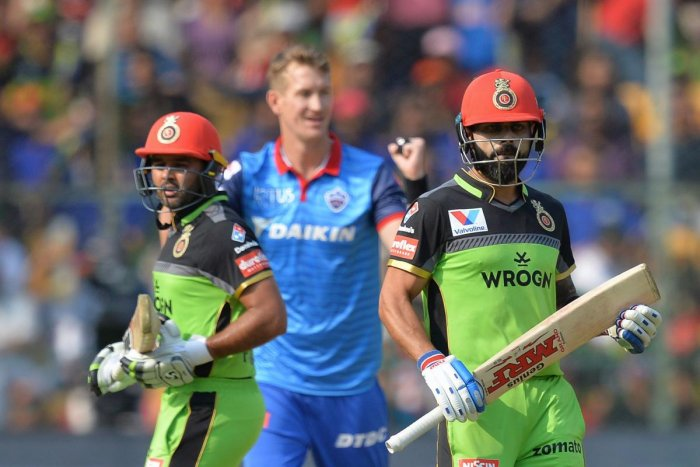 Virat Kohli (right) said RCB have failed to grab their chances. AFP