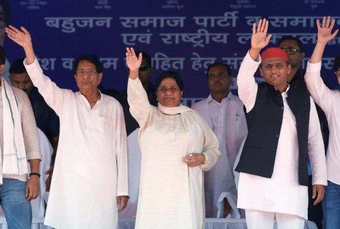 Both the 'grand alliance' comprising the Samajwadi Party (SP), BSP and Rashtriya Lok Dal (RLD) and the Congress have been going all out to woo the Muslims, whose support is considered to be decisive in around two dozen Lok Sabha constituencies across the