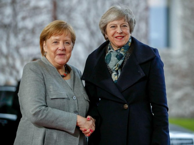 May will meet the two leaders on Tuesday, their offices announced on Monday, the day before the summit where she is expected to ask the bloc for another delay to Brexit. (AFP File Photo)