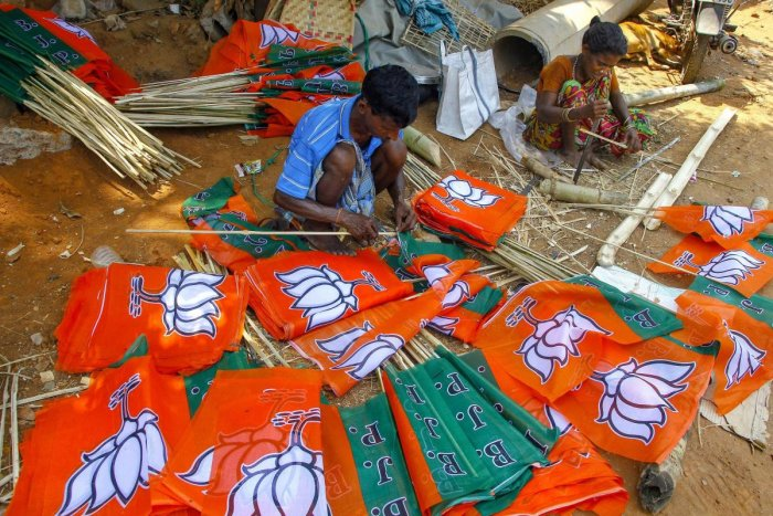 The BJP has put up candidates on all the eight seats, the Congress has fielded nominees on six seats leaving two for the grand alliance. PTI file photo