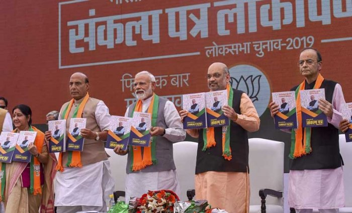 The BJP is selling the dream of a New India through its manifesto. (PTI Photo)