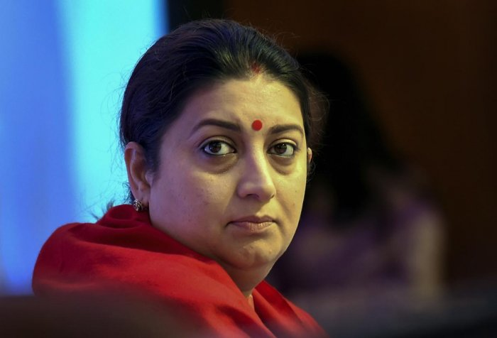 Irani, who is the BJP's candidate for the Amethi Lok Sabha constituency in Uttar Pradesh, is making a second attempt to wrest the seat from Congress president Rahul Gandhi. PTI File photo