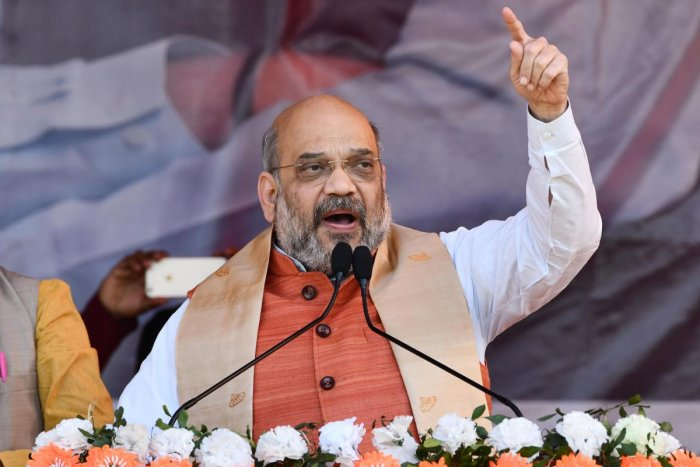 Referring to the Pulwama terrorist attack and subsequent air strike by India targetting terror camps in Pakistan, Shah asked whether Congress President Rahul Gandhi could give a fitting reply like Modi. AFP File photo