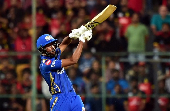 BRUTAL FORCE: Hardik Pandya, along with Kieron Pollard, has provided Mumbai Indians the required results in the death overs. PTI