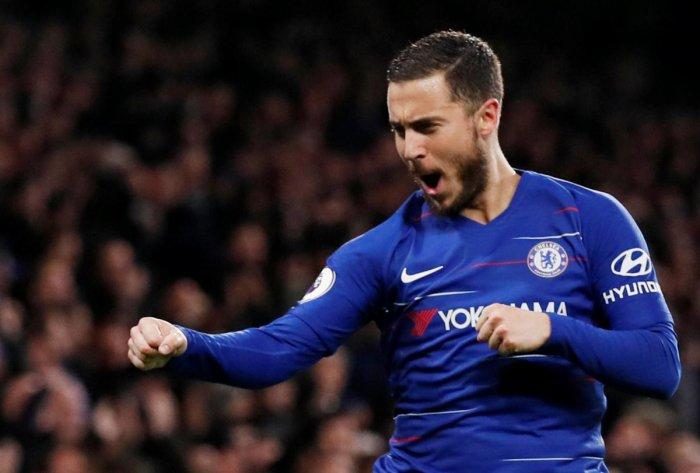 5d7b6ccd36a SPECIAL SHOW  Chelsea s Eden Hazard celebrates after scoring his team s  second goal against West Ham