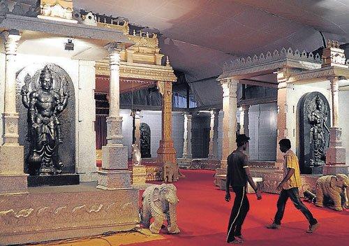 Belur-Halebid temples recreated in City
