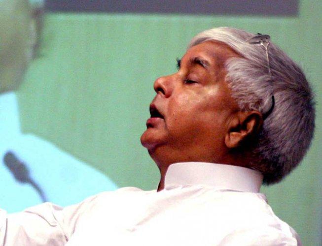 RJD president Lalu Prasad. (DH File Photo)