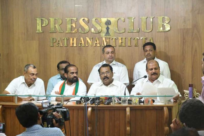 George along with BJP Kerala president P S Sreedharan Pillai announced the decision at a press conference in Pathanamthitta on Wednesday. (Image courtesy Twitter/@satyakumar)