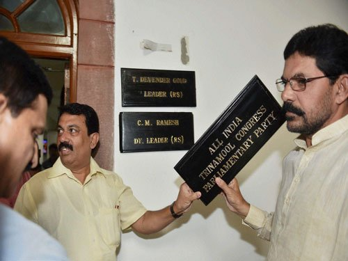 It is TDP Vs TMC for Room No 5 in Parliament
