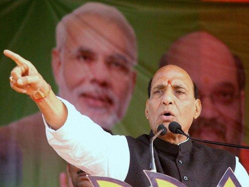Rajnath attacks Bengal law and order, TMC hits back