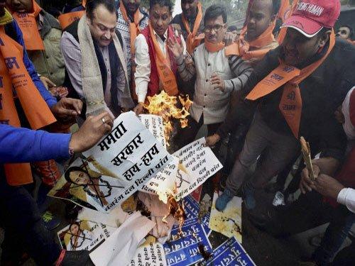 Malda violence: BJP delegation meets President, slams TMC govt
