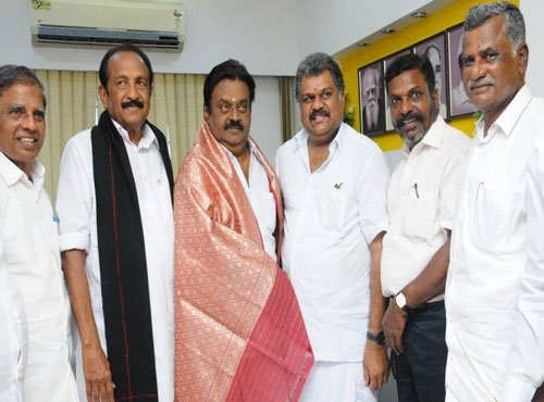 New rainbow coalition as TMC joins DMDK-PWF combine