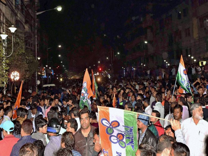BJP offices, workers attacked as TMC takes to streets