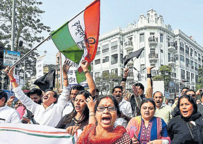TMC protests bring West Bengal to a standstill