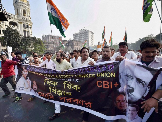 TMC MPs protest outside PMO, rounded up