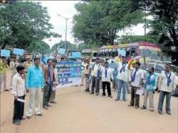 RPI workers stage protest against cow slaughter ban bill
