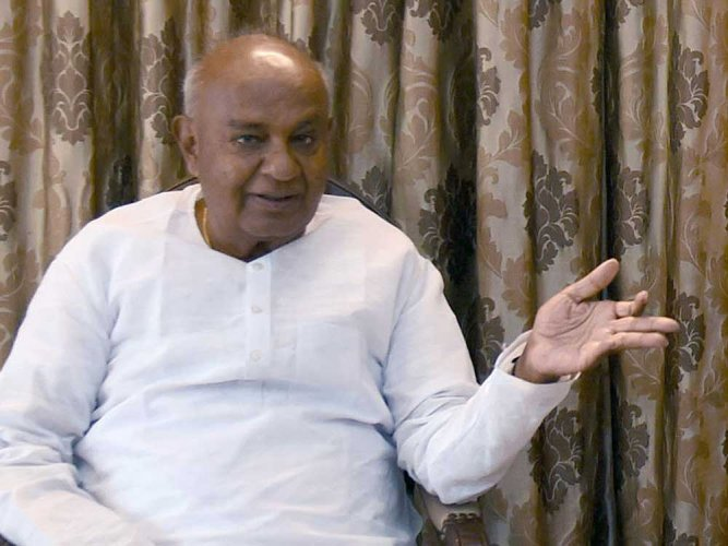 JD(S) supremo H D Deve Gowda, DH file photo