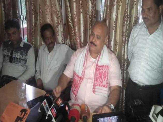 Assam Trinamool Congress (TMC) president Dwipen Pathak. Image courtesy Twitter