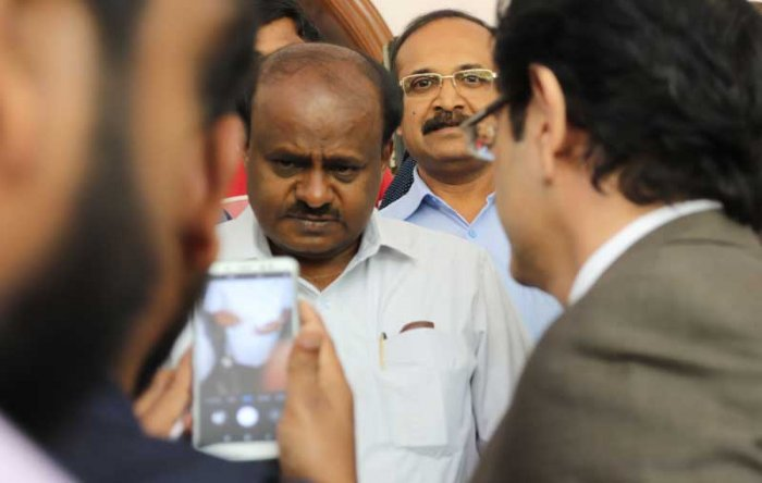 Chief Minister H D Kumaraswamy has claimed that Income Tax sleuths may swoop down on the office and residences of the JD(S) and Congress leaders on Thursday.