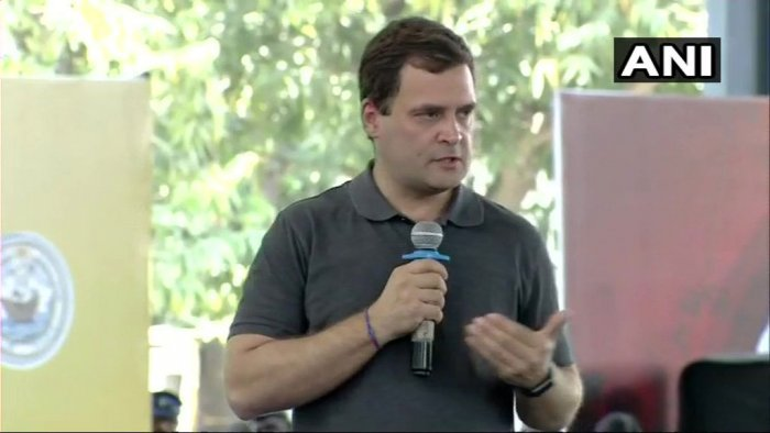 You can't have a negative, fearful atmosphere in the country and expect economic growth, which is directly related to the mood of the country, Congress president Rahul Gandhi said on Tuesday. ANI photo