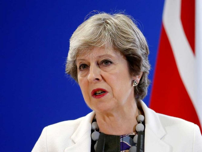 British Prime Minister TheresaMay. Reuters file photo