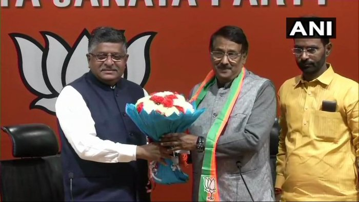 "Immediately after joining, Vadakkan said he was ""hurt"" at the situation within the Congress where it was not clear that who was the power centre. (Image: ANI/Twitter)"