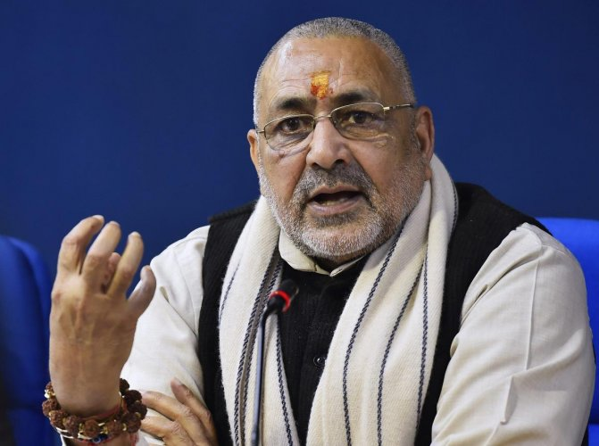 Union minister Giriraj Singh is reportedly unhappy with his party leadership for denying him the Lok Sabha seat Nawada, which he represents in the present Lok Sabha. PTI file photo