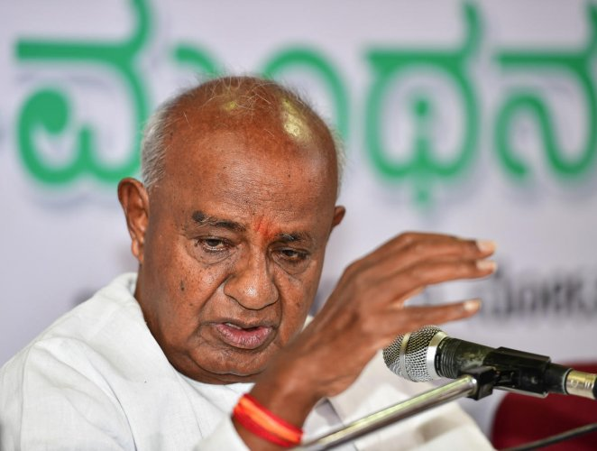 Amid strains in the ruling Congress-JD(S) coalition government in Karnataka, former Prime Minister and JD(S) supremo H D Deve Gowda today said his son and Chief Minister H D Kumaraswamy will present the budget on July 5 and there would be no danger to his