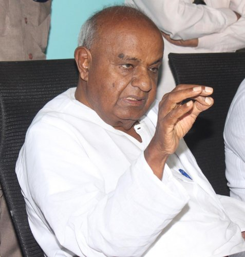 Former prime minister and Janata Dal (Secular) chief H D Deve Gowda. (DH file photo)