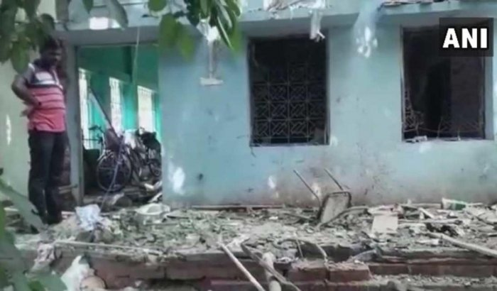 The explosion took place at around 10 am. (Image courtesy ANI/Twitter)