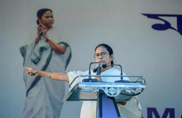 West Bengal Chief Minister Mamata Banerjee during a government programme, in Cooch Behar on October 30. PTI