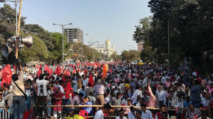 CPM's farmer's rally in Central Kolkata on Thursday. photo by Soumya Das