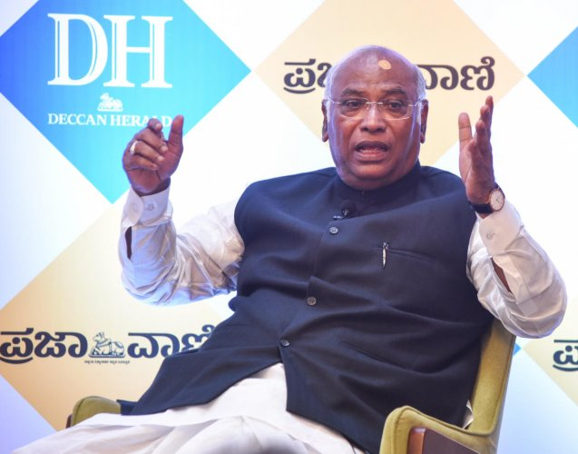 Kharge said Modi rarely attended Parliament and during his replies to debates did not take questions or provide clarifications. (DH Photo)