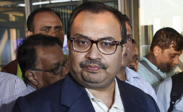 Former TMC MP Kunal Ghosh after an interrogation by the CBI in connection with the chit funds scam case, in Shillong, Tuesday, Feb 12, 2019. (PTI Photo)